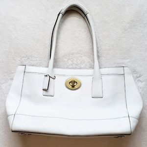 Coach Madeline White Leather Purse